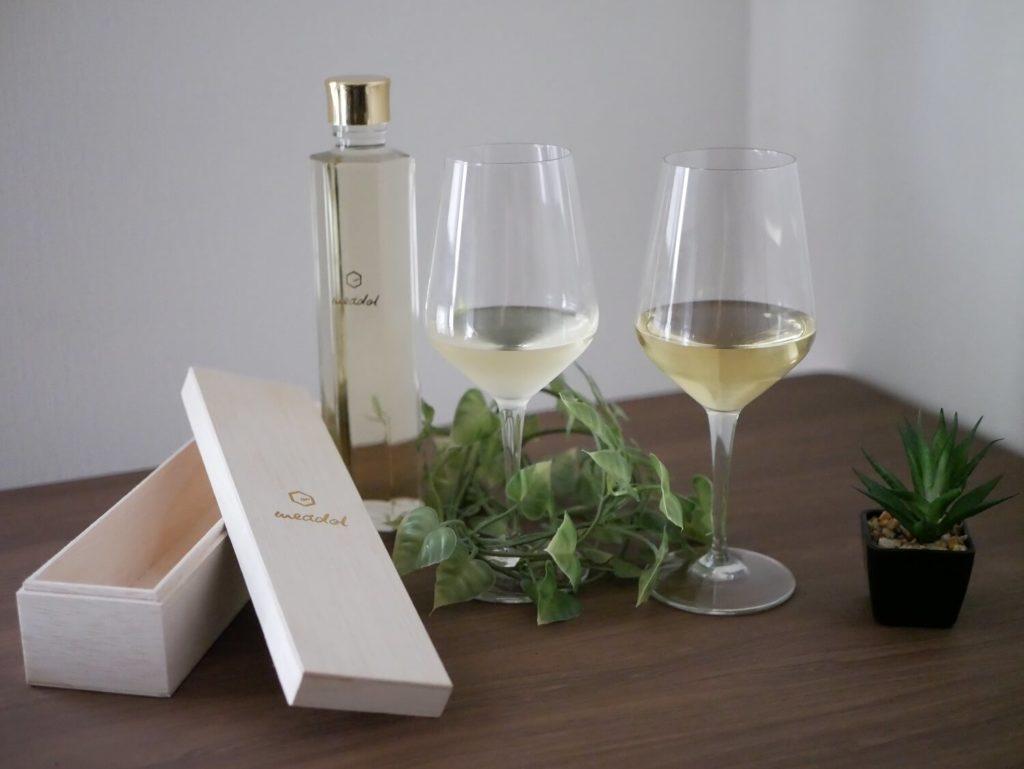 ミードと白ワイン