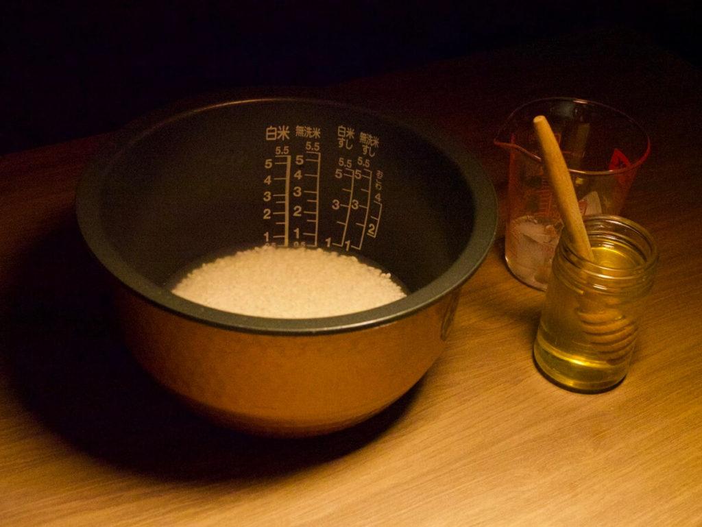 はちみつご飯の材料